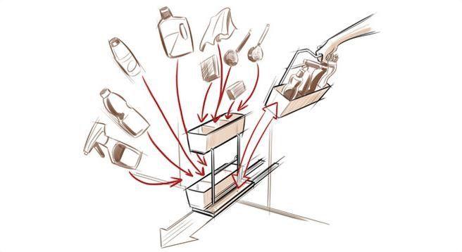 Cubos fregadero para mueble bajo